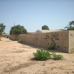 Vista del muro di cinta